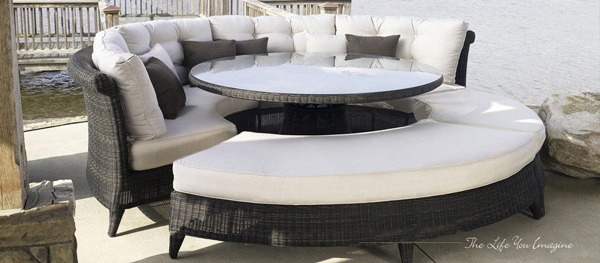 Outdoor Dining Set with Bench Seating