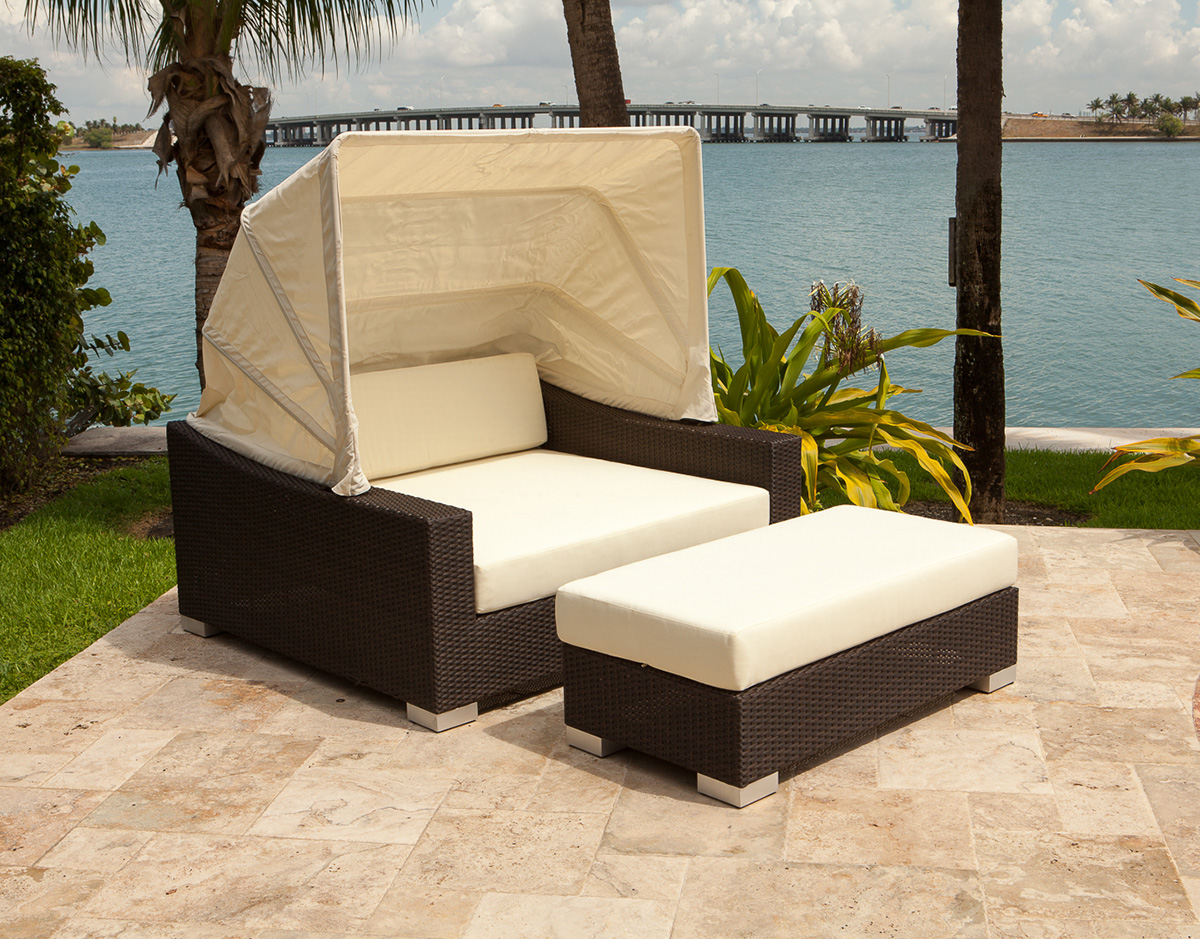 Charmant King Daybed Outdoor Patio Furniture Retractable Canopy Sunbrella Modern  Design Ideas Inspiration Tips Advice Lounge Relax