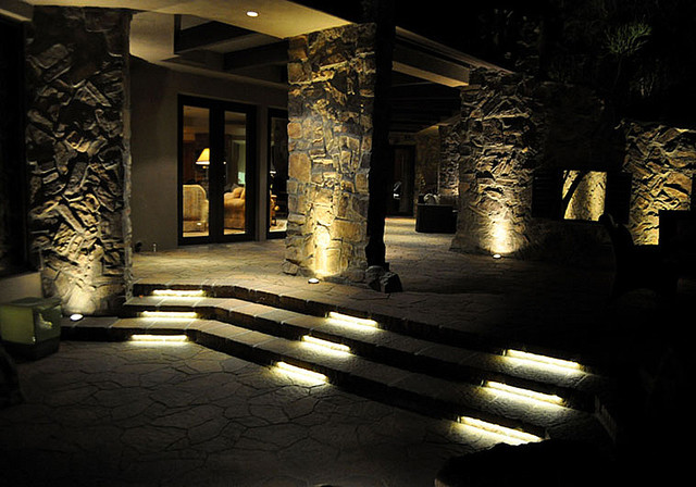 LED Patio Staircase Lighting