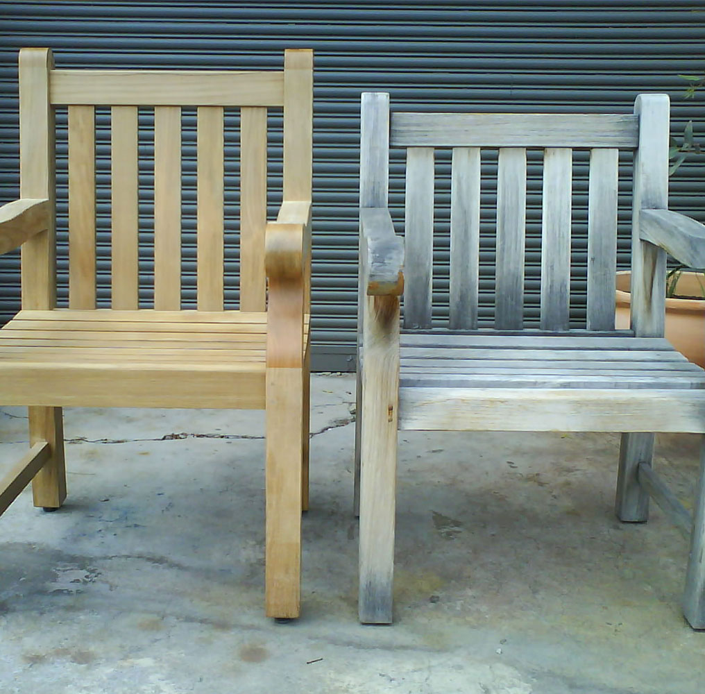 Beau Removing Gray Patina From Teak Outdoor Furniture