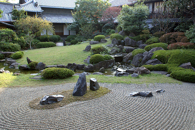 japanese rock garden zen outdoor design immortal islands gravel sand