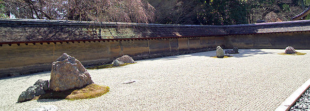 japanese rock garden zen stone dry sand gravel outdoor patio design trends history art