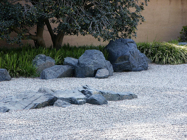 japanese rock garden library huntington zen stone dry sand gravel outdoor design