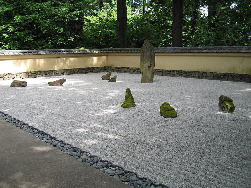 japanese rock garden design outdoor portland sand gravel moss stone