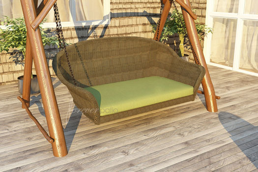 Rockport Outdoor Wicker Swinging Bench