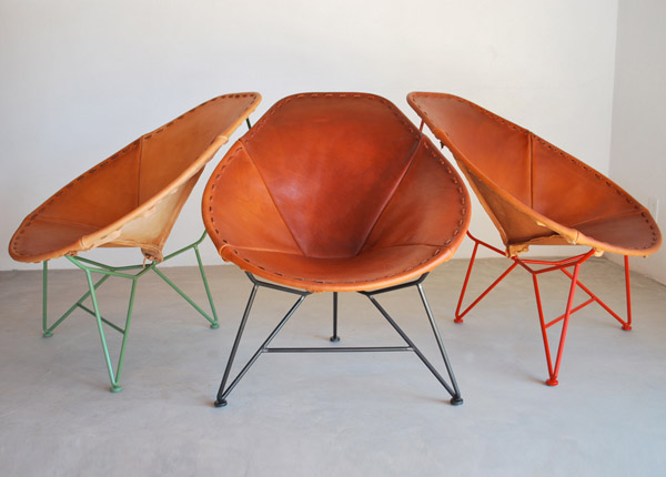 Saddle Leather Oval Acapulco Chair