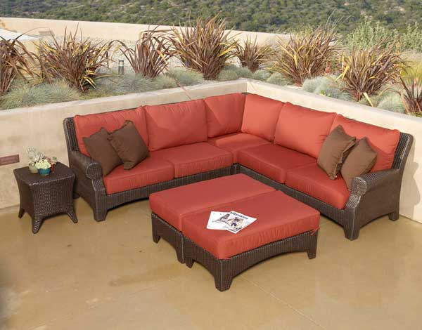 Santa Barbara Wicker Sectional Set