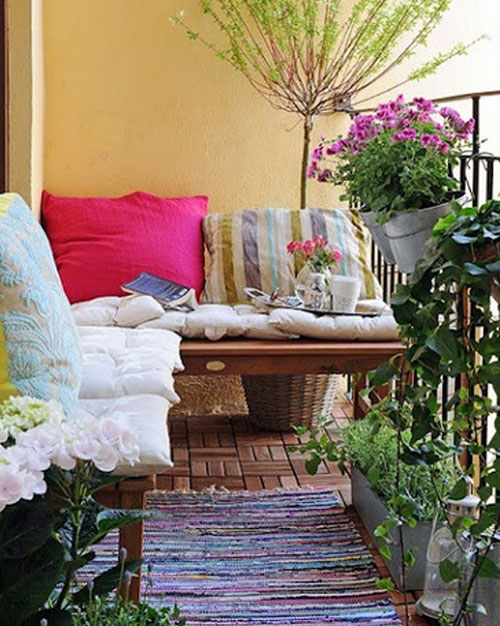 Furnishing a small condo balcony without sacrificing style for Apartment terrace furniture