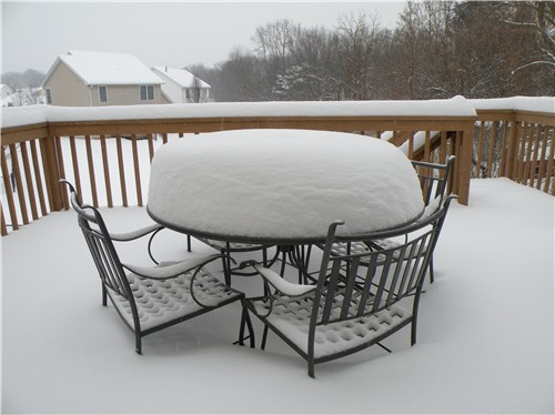 Patio Furniture From Freeze Damage