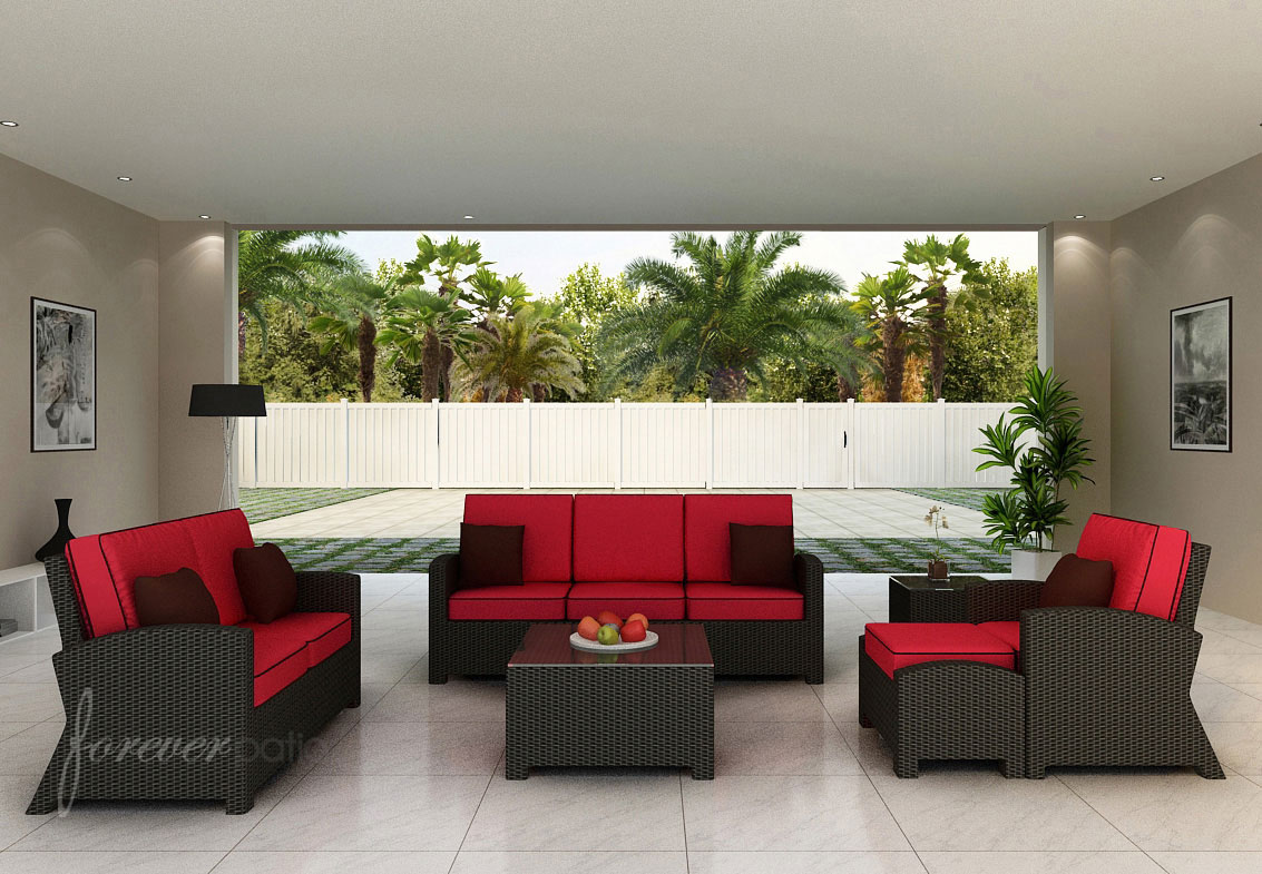barbados sofa set patio productions modern design style outdoor furniture ideas