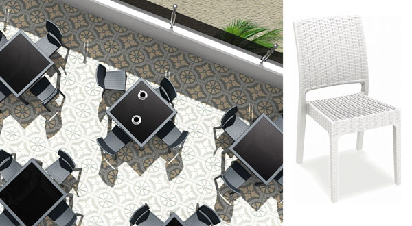 Square Outdoor Dining Set