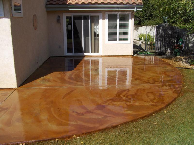 Beautiful Stained Concrete Patio