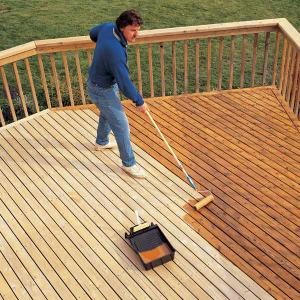 Staining Outdoor Deck