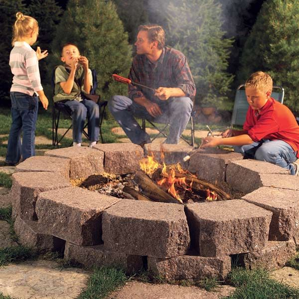 Backyard Stone Fire Ring