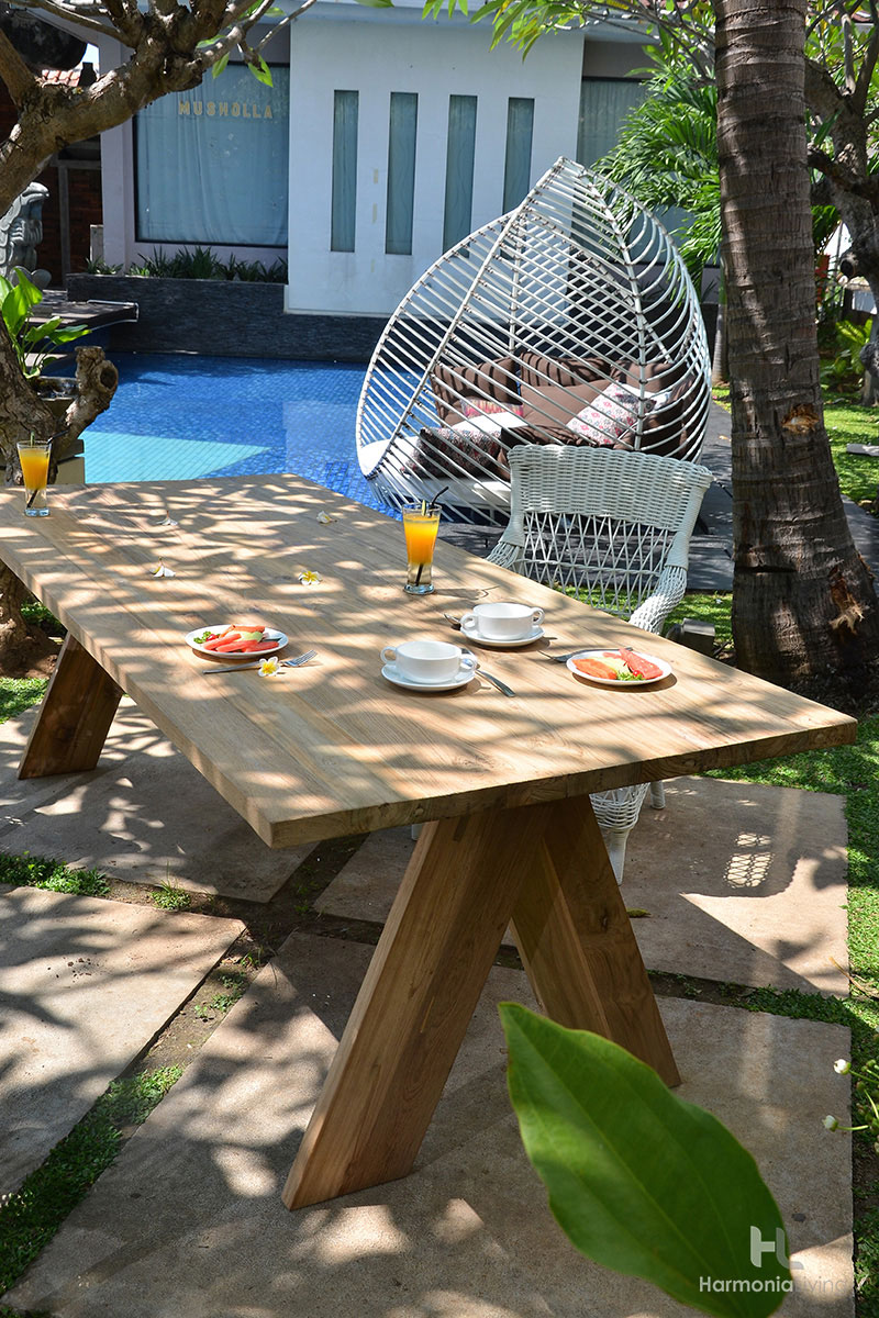 The Summit Teak Outdoor Dining Table Is The Perfect Addition To Any  Backyard Or Patio