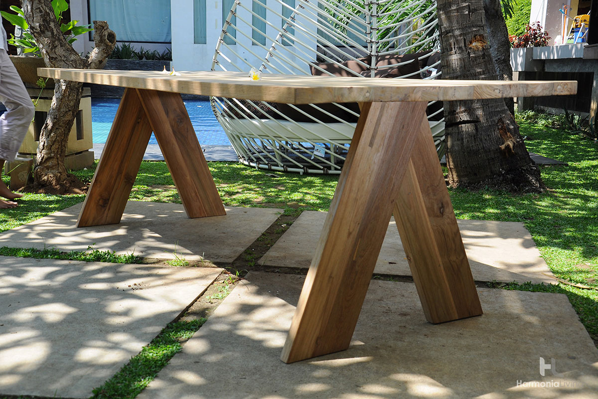 The Summit Outdoor Teak Dining Table Makes A Huge Impact On Your Patio