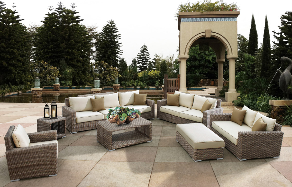 The Coronado Patio Wicker Sofa Set From Sunset West