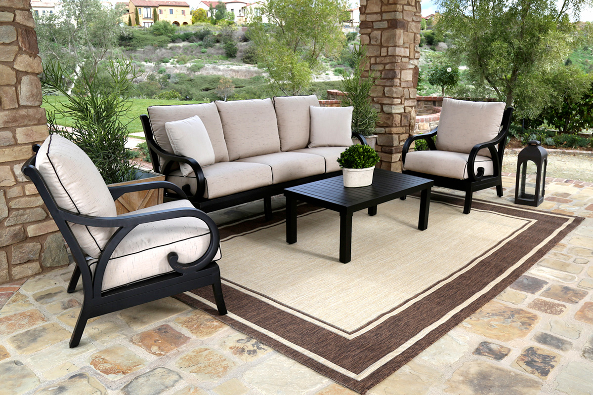 Introducing Sunset West's new outdoor sofa collection, the elegant Monterey - Featured Brand: Sunset West - Patio Productions