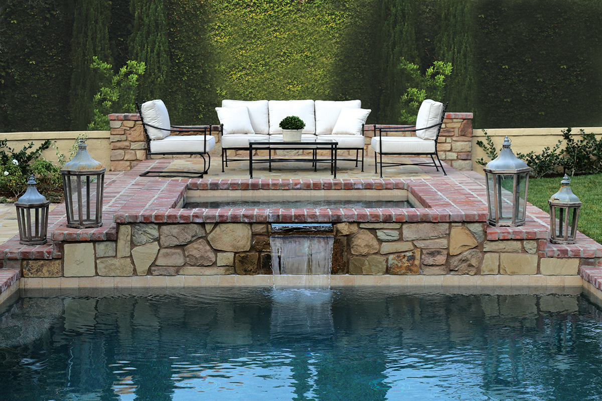 The Provence outdoor seating set from Sunset West