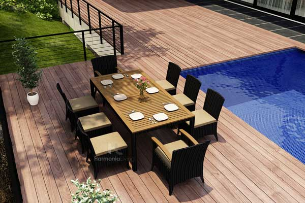 Wicker And Teak Outdoor Dining Sets Part 7