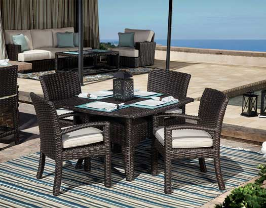 Cardiff Dining Set Thick Woven All Weather