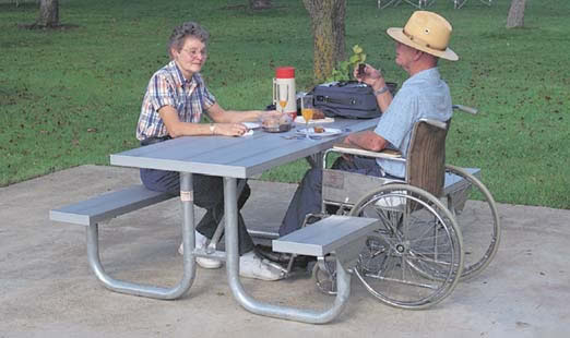 Wheelchair Accessible Outdoor Furniture