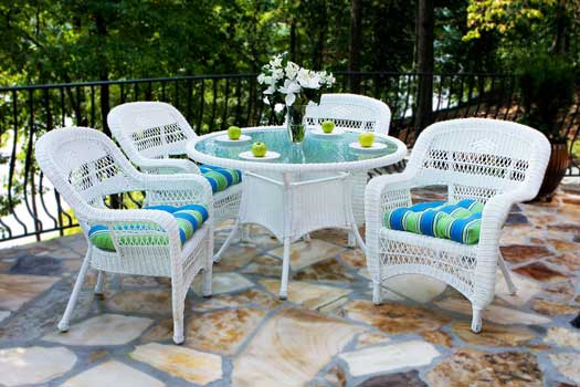 Delicieux Portside White Outdoor Wicker Furniture Set