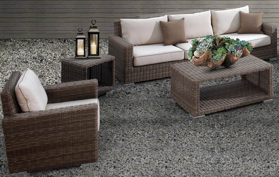 Outdoor Wicker Sofa Sectional